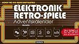 FRANZIS Elektronik-Retro-Spiele-Adventskalender 2018   24 Spiele der 70er und 80er zum Selberbauen   Jeden Tag ein neuer Bastelspaß   Ab 14 Jahren
