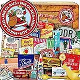 Nikolaus | Advent Kalender DDR |Ostalgie Box | DDR Waren in 24 Türchen | weihnachtlich verpackt mit Ostmotiven