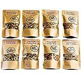 Crunchy Queen handgemachtes Knusper-Müsli Probierpaket, 7x 80 g, +1x 50g Müsli ohne Zusatz von raffiniertem Zucker