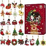 Toyvian Adventskalender Countdown bis Weihnachten DIY 24 Tage Miniatur Ornamente für Weihnachten Weihnachtsschmuck