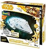 Revell Build&Play 01017 - Adventskalender Millennium Falcon, Star Wars, Disney SOLO - 24 Tage cooler Bastelspaß, der Bausatz mit dem Stecksystem für Kinder ab 6 Jahre, bauen und spielen