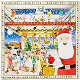 RITTER SPORT Quadrat-Adventskalender (347 g), fröhlich-bunter Weihnachtskalender, mit 24 minis und Schokowürfeln, in 8 Schokoladen-Sorten, süße Adventsdeko