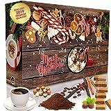 C&T Adventskalender 24 Aromatisierte Kaffees - Flavoured Coffee (Gemahlener Kaffee) mit vielen leckeren Sorten - Apfelstrudel, Karamell, Zimtschnecken - Weihnachts-Kalender für Erwachsene