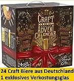 Kalea Craft Bier Tasting Kalender 2019, 24 x 0,33 l Craft Beer aus Deutschland, Geschenkidee zur Vorweihnachtszeit für Männer, inklusive Sondersude, limitierte Auflage