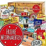 Frohe Weihnachten | Adventskalender DDR | DDR Artikel in 24 Türchen | Ossi Paket | weihnachtlich verpackt mit Ostmotiven