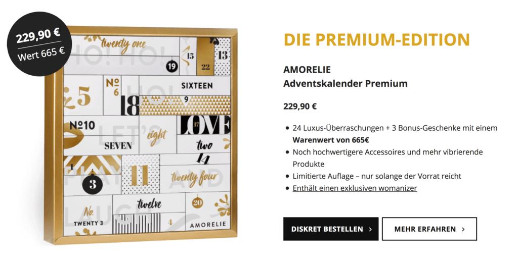 Der Amorelie Premium Adventskalender 2017